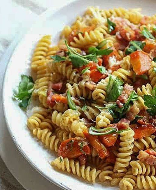 Bacon Miso Carrot Pasta