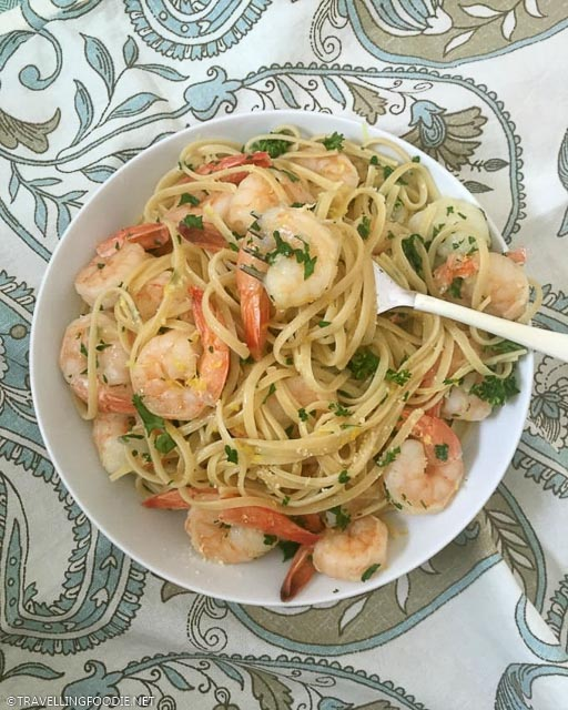 Shrimp Linguine with Lemon Garlic Butter Sauce