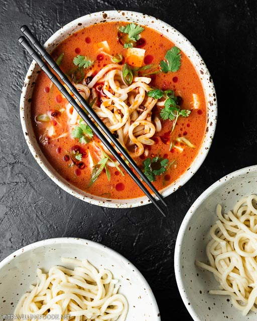 Vegan Spicy Udon Noodle Soup