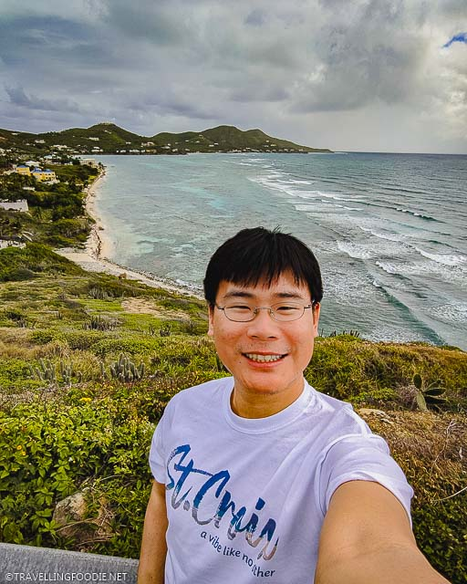 Travelling Foodie Raymond Cua selfie at Grass Point in St. Croix, US Virgin Islands