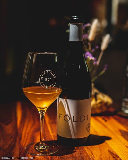 Foldi Orange Wine at H4C par Dany Bolduc for Montreal en Lumiere 2020 Tasting Menu