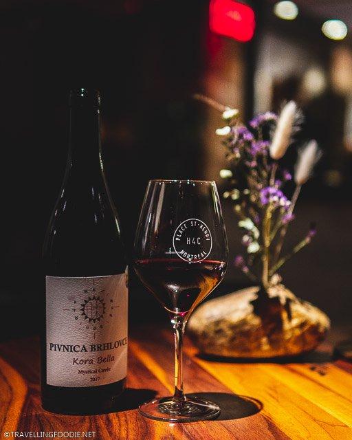 Kora Bella Red Wine at H4C par Dany Bolduc for Montreal en Lumiere 2020 Tasting Menu