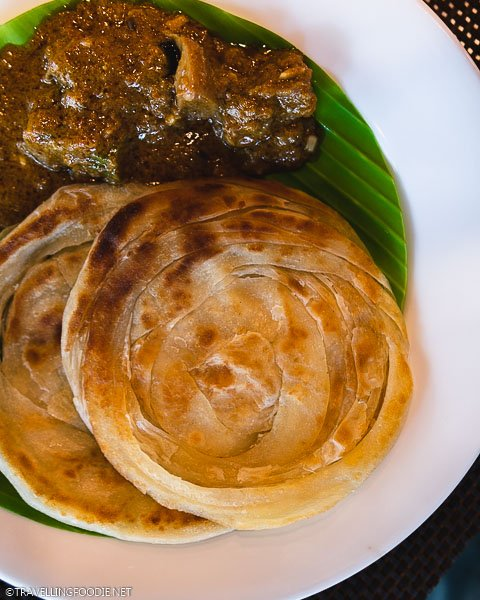 Parotta with Mutton at Heritage Madurai Resort in Tamil Nadu, India