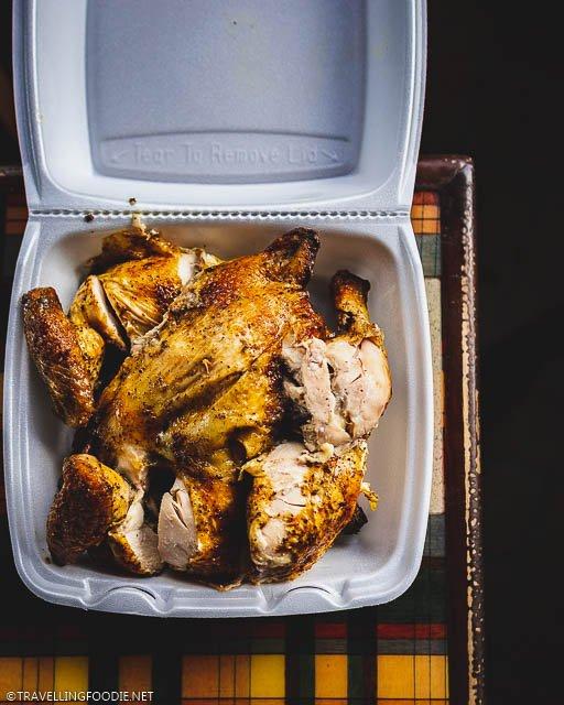 Half Rotisserrie Chicken at La Reine Chicken Shack in Saint Croix, US Virgin Islands