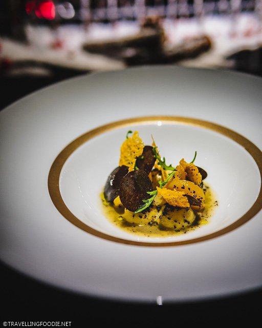 Black Truffle Gnocchi at L'Atelier de Joel Robuchon for Montreal en Lumiere 2020 Tasting Menu