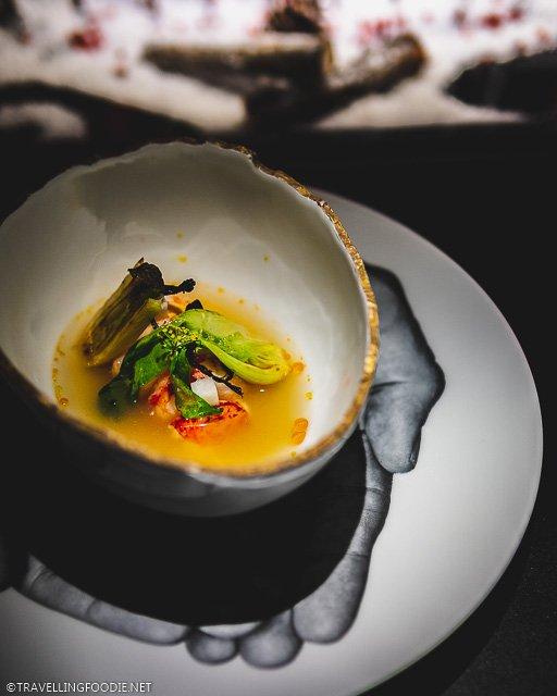 Poached Lobster at L'Atelier de Joel Robuchon for Montreal en Lumiere 2020 Tasting Menu