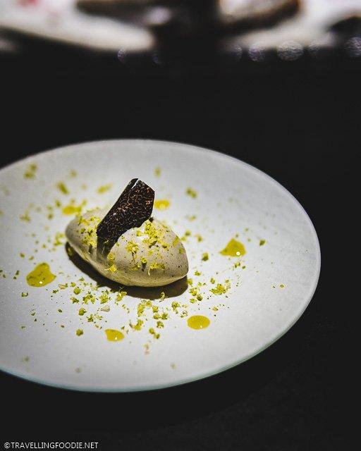 Black Truffle Ice Cream at L'Atelier de Joel Robuchon for Montreal en Lumiere 2020 Tasting Menu