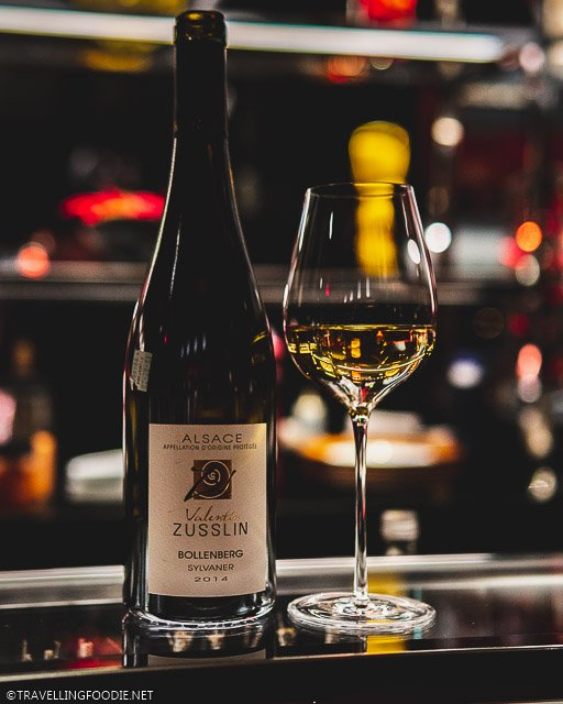 Bollenberg Sylvaner by Domaine Zusslin Winery at L'Atelier de Joel Robuchon for Montreal en Lumiere 2020 Tasting Menu