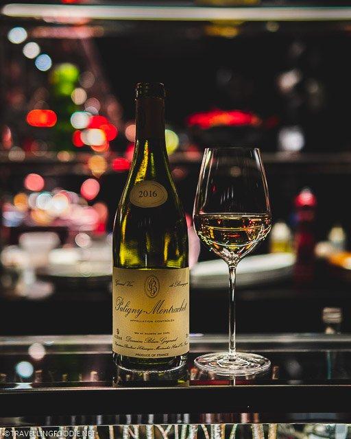 Domaine Blain-Gagnard Puligny Montrachet Wine at L'Atelier de Joel Robuchon for Montreal en Lumiere 2020 Tasting Menu