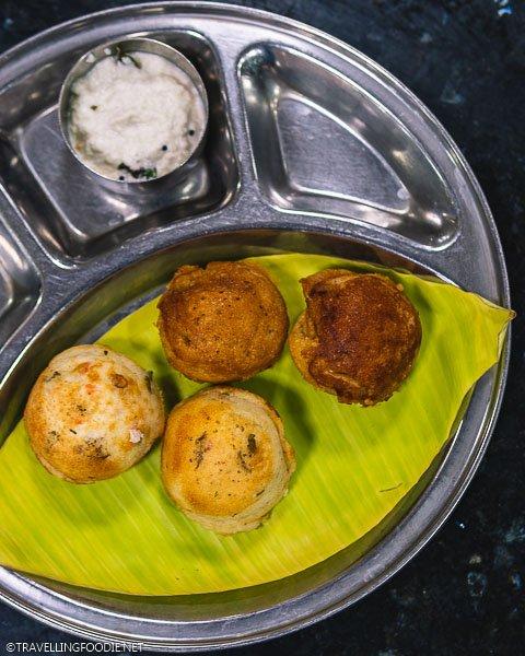 Kuzhi Paniyaram (कुझि पनियारम) at Harish Restaurant in Madurai, India