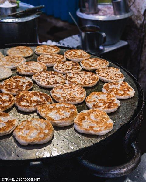 Cooking Parotta (पराठा) at New Janani Mess in Madurai, India