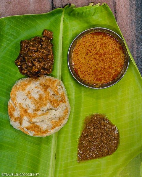 Parotta (पराठा) with Gravy at New Janani Mess in Madurai, India