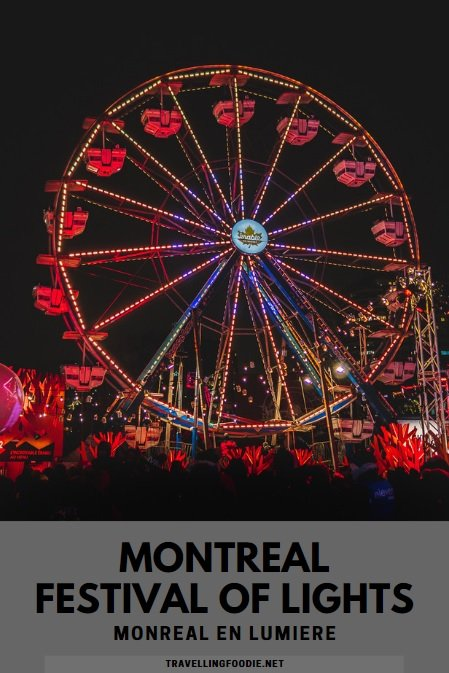 Montreal en Lumiere / Montreal's Festival of Lights is one of the world's largest winter festivals with entertainment, free activities, and a gastronomy program that makes it a festival for foodies.
