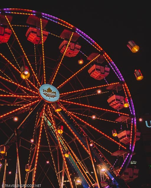 Quebec Ferris Wheel with Floating Lights at Montreal en Lumiere