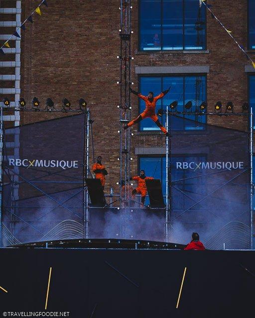 Voltigo Spreadeagle Jump during Montreal Festival of Lights 2020