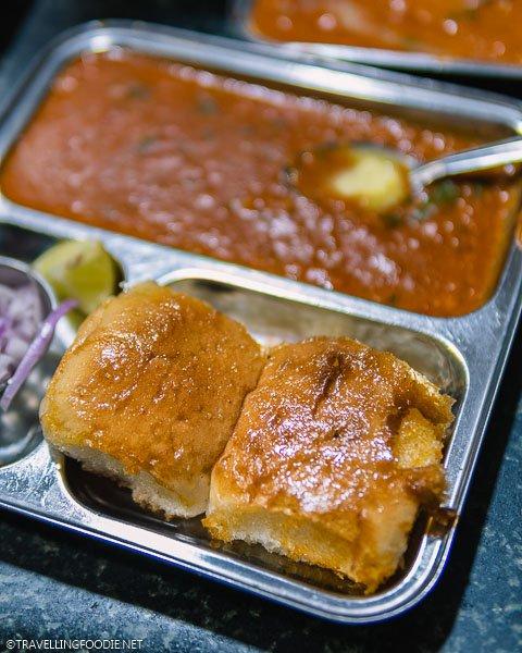 Pav Bhaji (पाव भाजी) at Novelty Tea House in Chennai, India