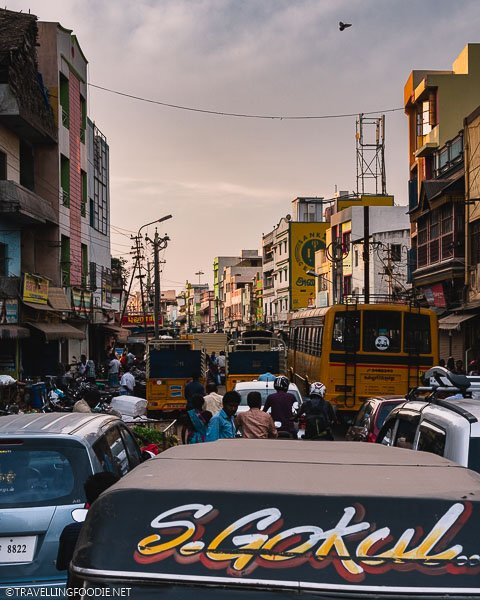 Traffic on the Streets of Madurai in Tamil Nadu, South India