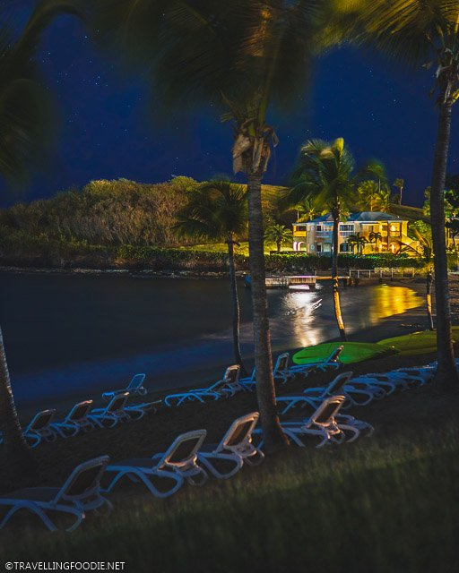 The Buccaneer Hotel at Night in St. Croix, United States Virgin Islands