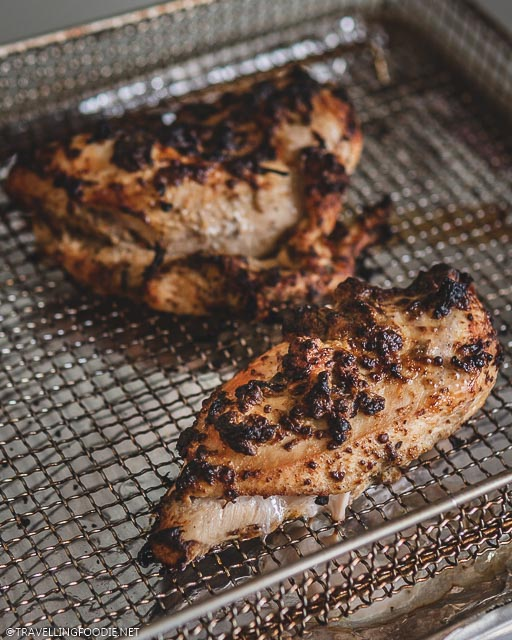 Air Fried Chicken Breast Marinated in Baba Ganoush