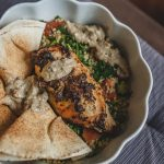 Chicken Breast with dollop of Baba Ganoush on top