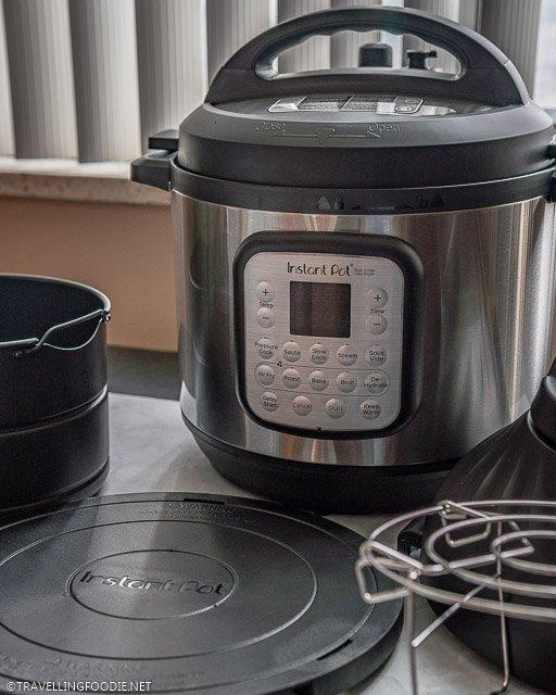 Instant Pot Duo Crisp + Air Fryer with Air Fryer holder