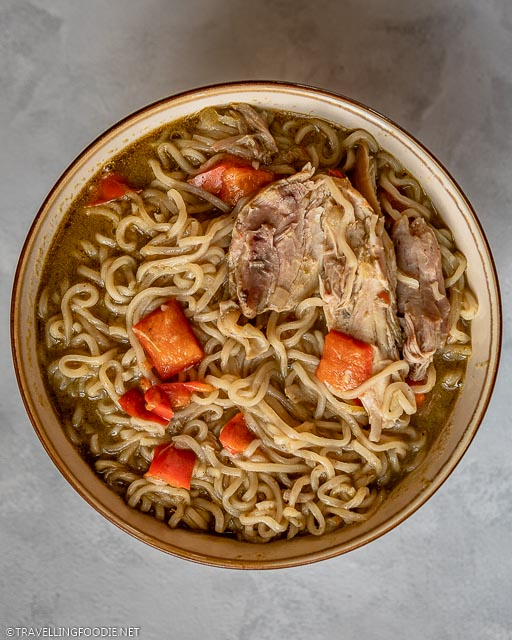 Instant Pot Thai Green Curry Chicken Noodle Soup in Bowl