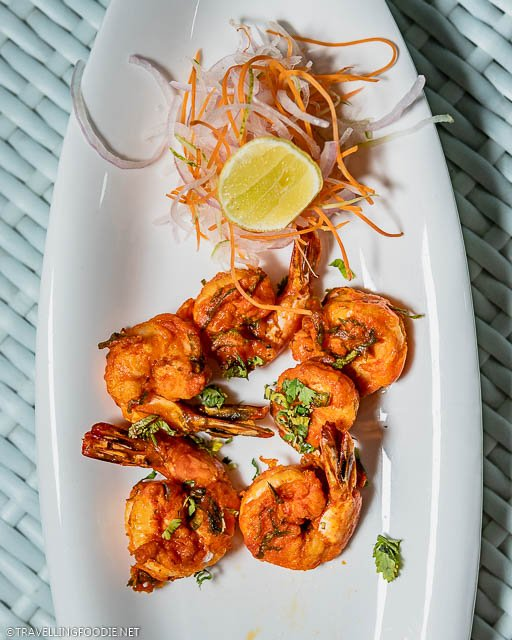 Era Varuval (Masala Fried Prawns) from L'Attitude 49 at Grande Bay Resort in Mamallapuram, India