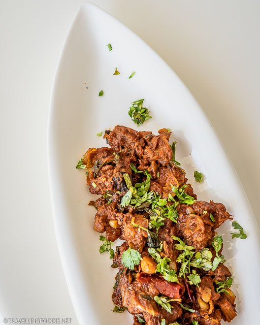 Dry Masala Goat from L'Attitude 49 at Grande Bay Resort in Mamallapuram, India