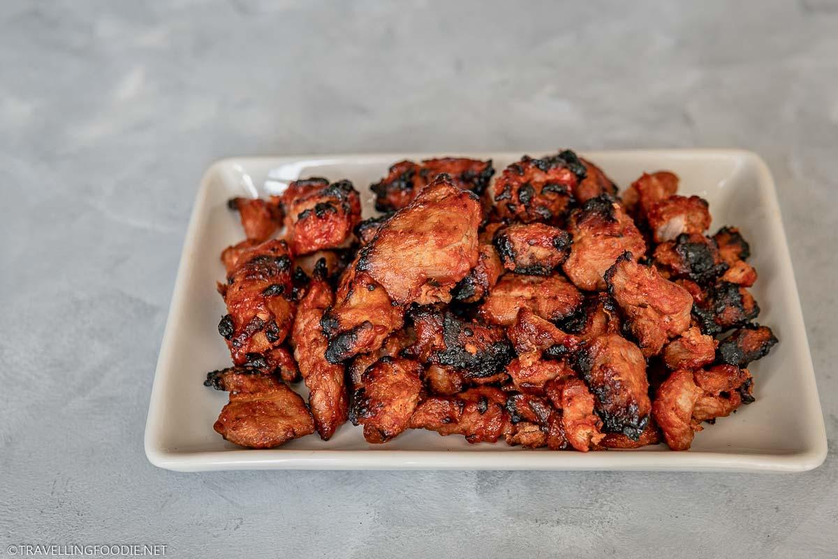 A plate full of Barbeque Air Fried Pork Tenderloin