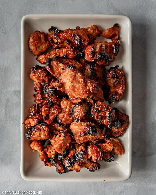A plate of Air Fryer Barbecue Pork