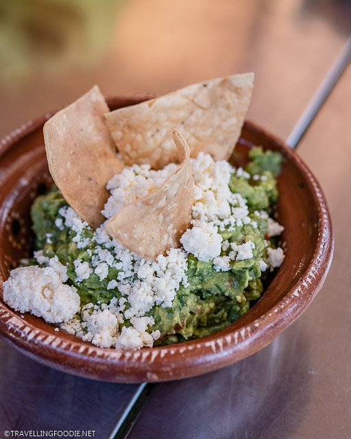 Mexican Guacamole topped with Panela Cheese and Chips at Gaby's Restaurant in Puerto Vallarta, Mexico