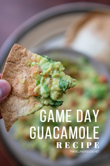 Game Day Guacamole Recipe on TravellingFoodie.net