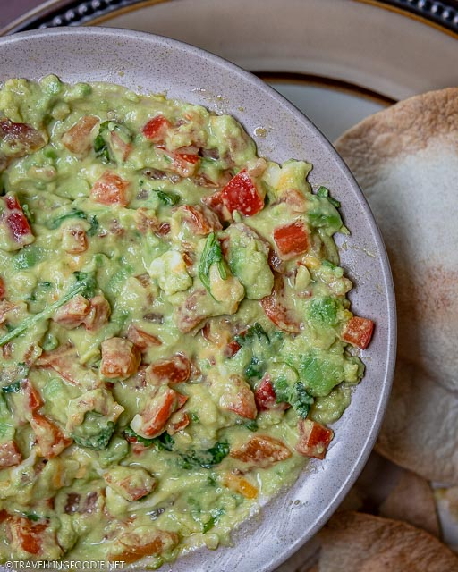 Game Day Guacamole mixed in a bowl