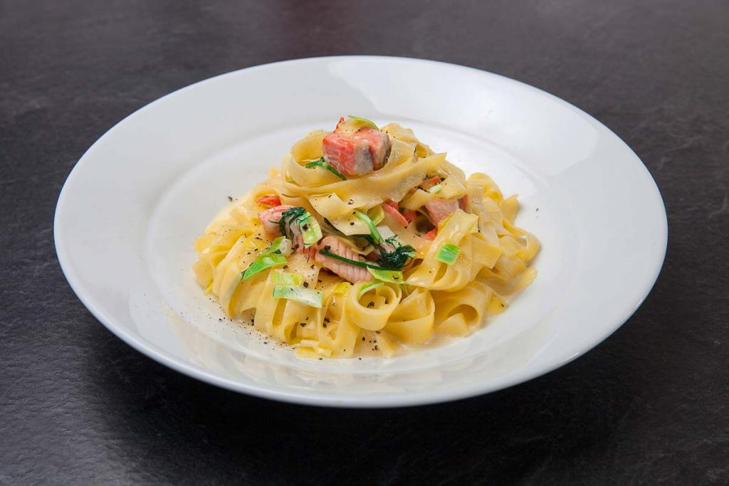 La Fenice Tuscan Chophouse Salmon Fettuccine in Downtown Toronto