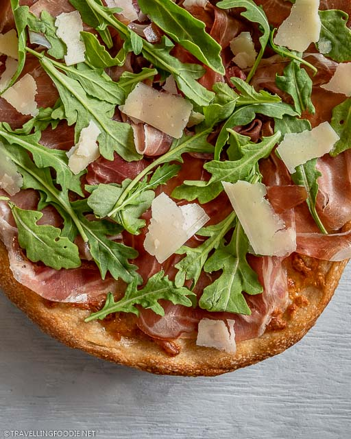 Half Pie of Parma Ham Arugula Grana Padano Cheese Pizza