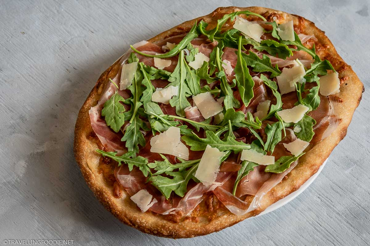Prosciutto di Parma, Arugula and Grana Padano Cheese Italian Pizza