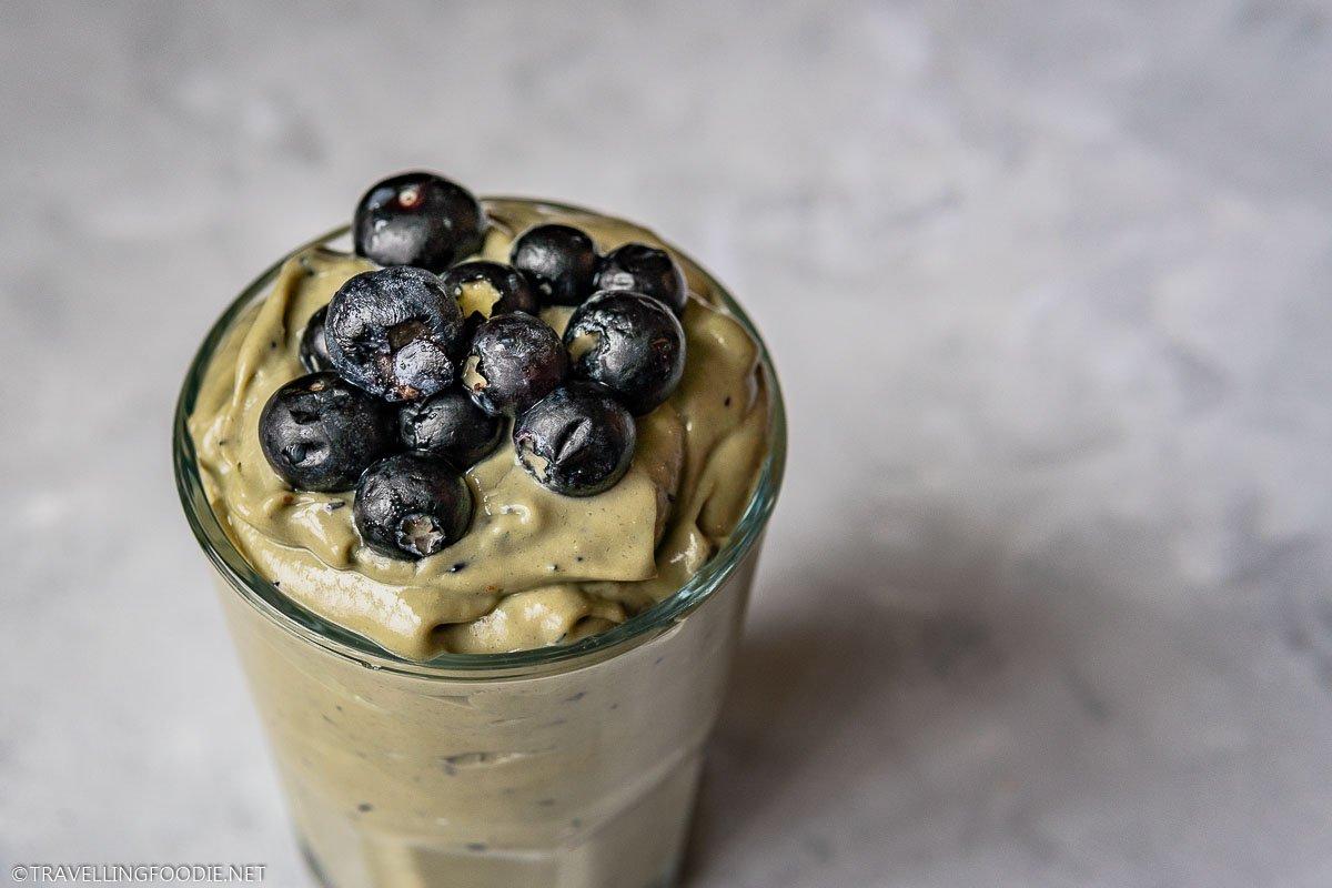 Fresh Avocado Banana Blueberry Smoothie Milkshake
