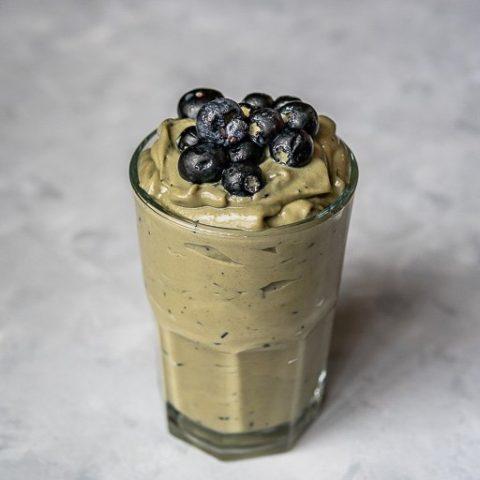 Avocado Blueberry Smoothie with Condensed Milk