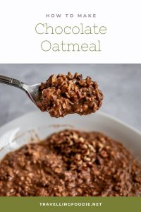 How To Make Chocolate Oatmeal - Healthy Oatmeal Recipe on TravellingFoodie.net