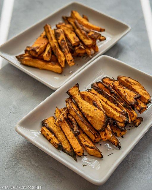 Air Fried Sweet Potato Fries using Cuisinart Toaster Air Fryer Oven