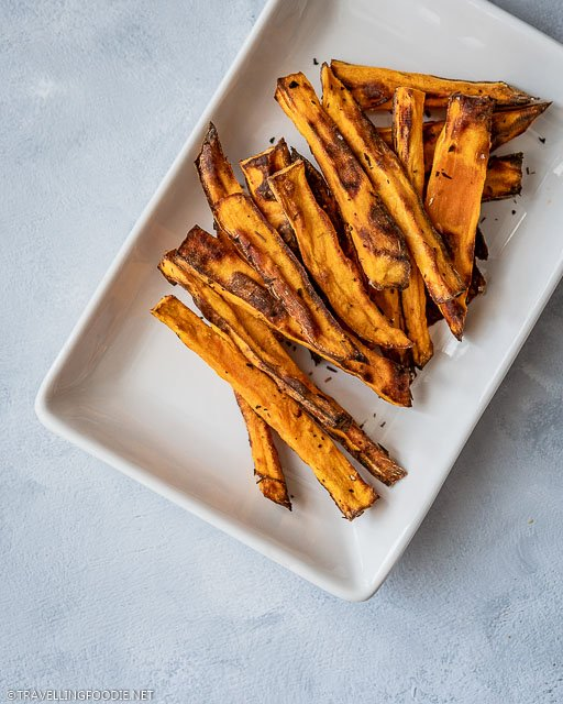 Air Fried Sweet Potato in Fries Form