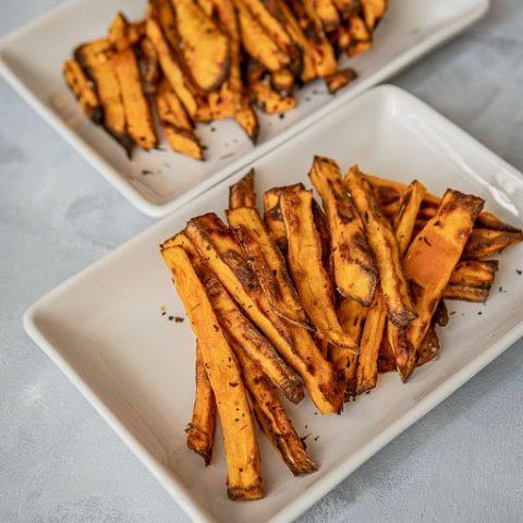 Air Fried Sweet Potato Fries using Instant Pot Duo Crisp + Air Fryer