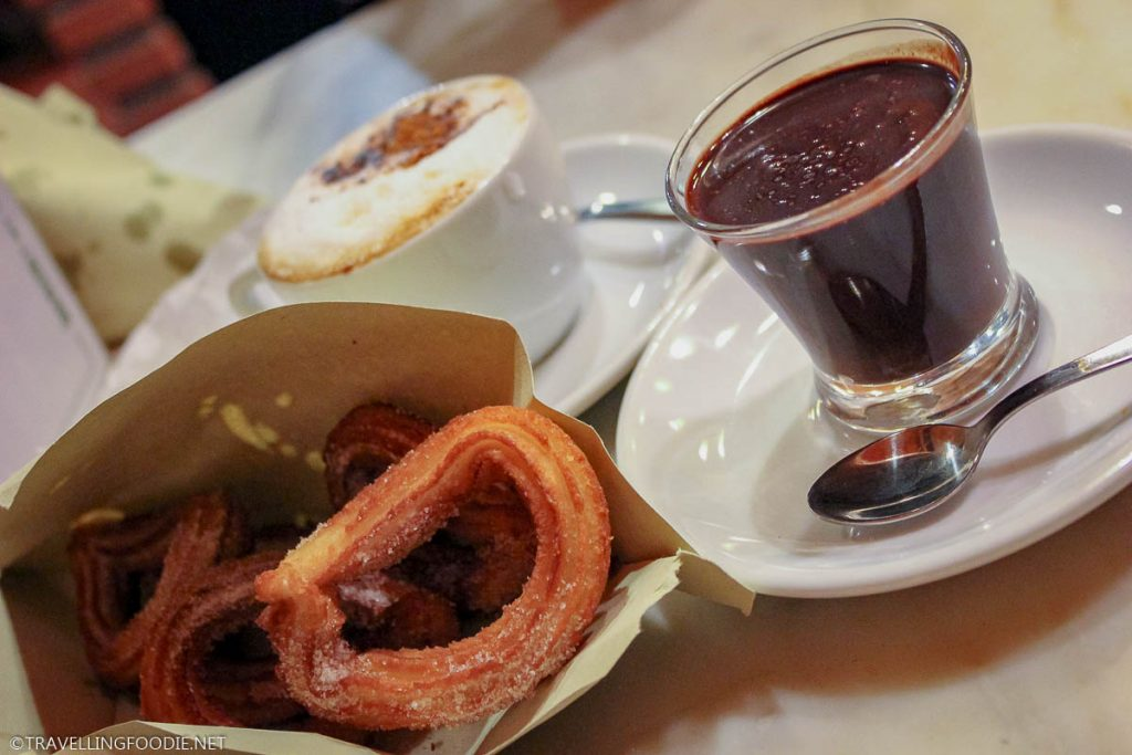 Churros con Chocolate (Xocolat) from Xurreria San Roman and La Granja 1872