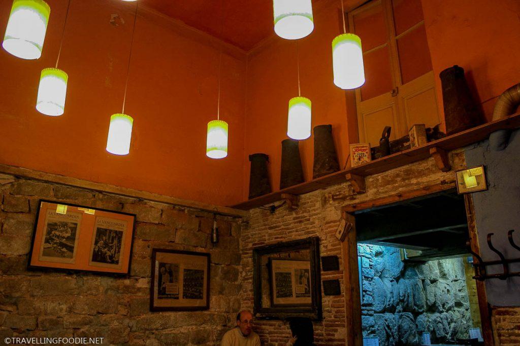 Interior of La Granja 1872 Cafe in Barcelona