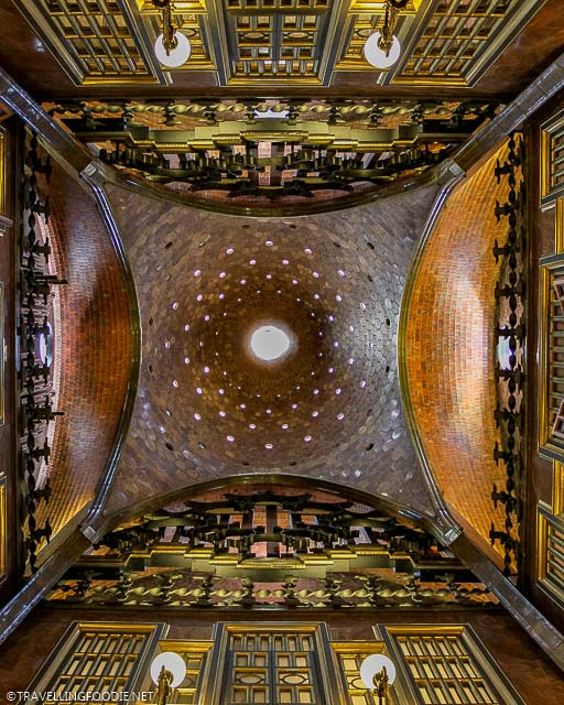 The Central Hall Ceiling at Palau Guell in Barcelona, Spain
