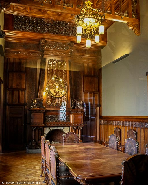 The Dining Room with original dining table at Palau Guell