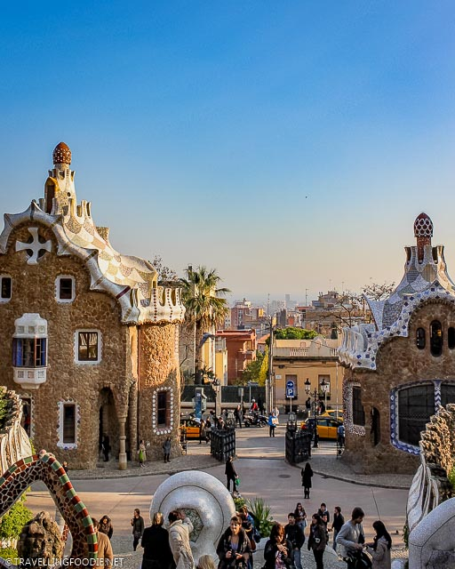 Two casa del guardia at Park Guell in Barcelona