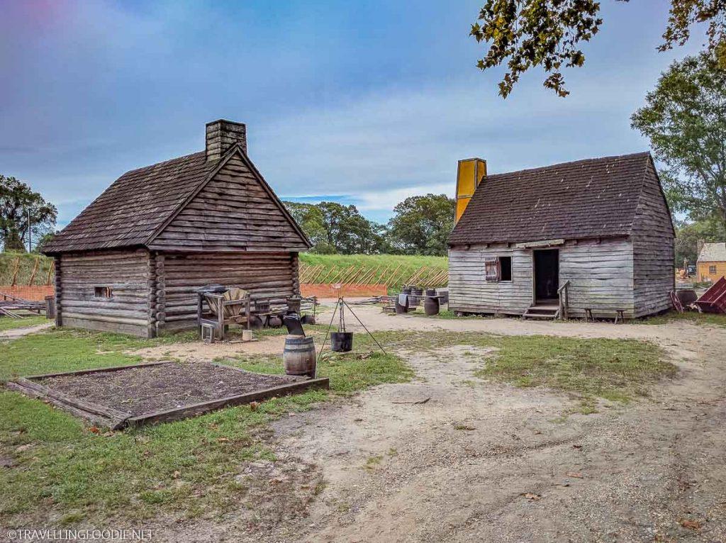 18th-century Farm at American Revolution Museum at Yorktown in Virginia