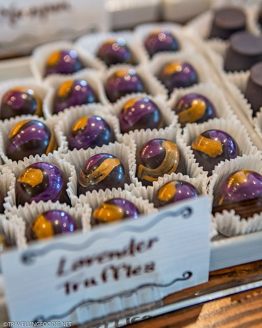 Lavender Truffles at Chocolate Barr's Candies in Stratford, Ontario
