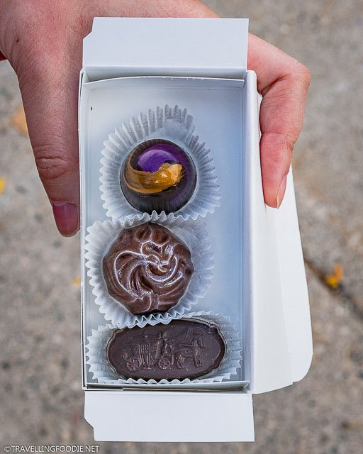 Lavender, Sea Salt and Whiskey Truffles at Chocolate Barr's Candies in Stratford, Ontario